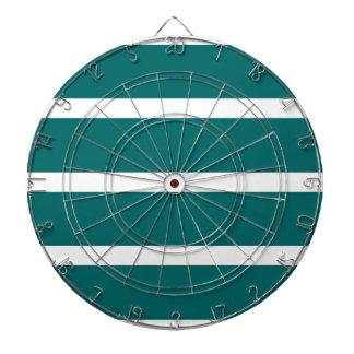 Bold Teal Stripe Dartboard