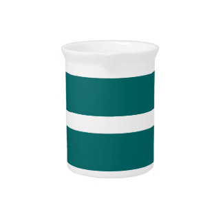 Bold Teal Stripe Pitcher