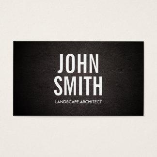 Bold Text Landscape Architect Business Card