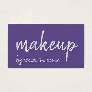 Bold Text Ultra Violet Makeup Artist Business Card