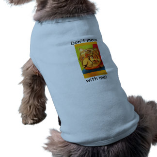 Bold Tiger Doggie Ribbed Tank Top Sleeveless Dog Shirt