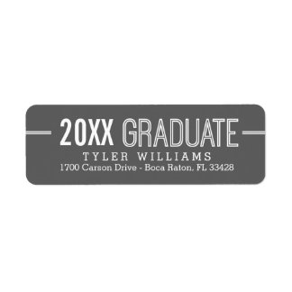 Bold Timeless Editable Color Graduation Label