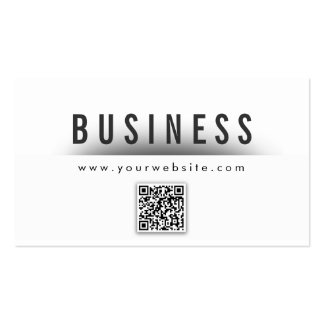Bold Title QR Code Producer Business Card