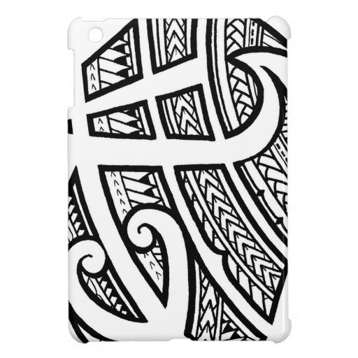 bold tribal tattoo island design with spearheads ipad mini covers zazzle. Black Bedroom Furniture Sets. Home Design Ideas