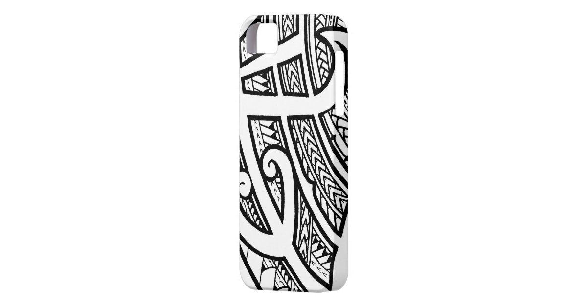 bold tribal tattoo island design with spearheads iphone 5 cover zazzle. Black Bedroom Furniture Sets. Home Design Ideas