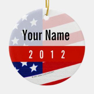 Bold USA Theme, Custom Personalized Design Ceramic Ornament