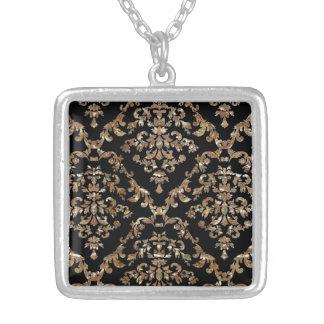 Bold Vintage Damask Elegant Necklace