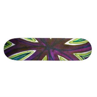 Bold watercolor of crossing infinity symbols custom skateboard