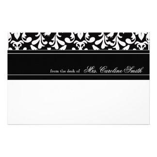 Bold White Birds & Flora Personalized Personalized Stationery