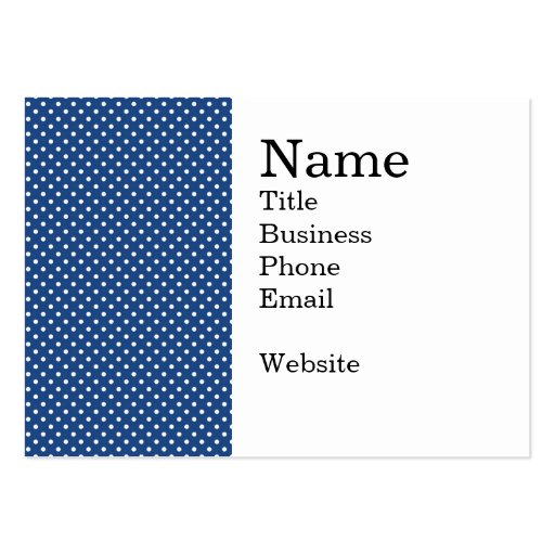 Bold White Circles on Navy Pattern Business Card Templates