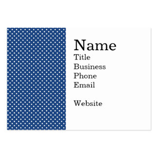 Bold White Circles on Navy Pattern Pack Of Chubby Business Cards
