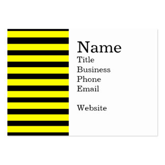 Bold Yellow and Black Bumble Bee Striped Pattern Pack Of Chubby Business Cards