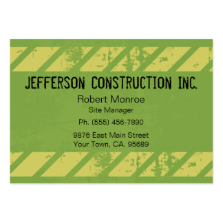 Bold Yellow Green Large Company Business Cards
