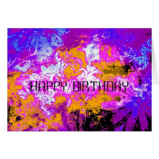 Boldly floral greetings card