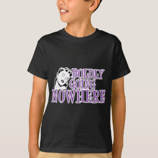 Boldly Going NOWHERE Retro Lady Purple T-Shirt