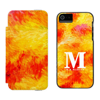 Boldly Monogrammed Summer Abstract Painting Incipio Watson™ iPhone 5 Wallet Case