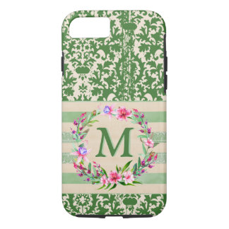 Boldly Romantic Floral Monogram Iphone 7 Case