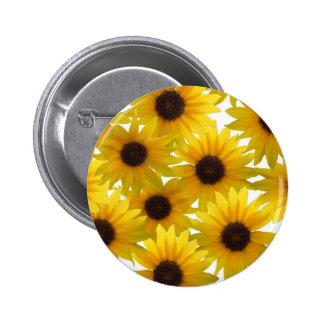 Boldly Sunny Sunflowers 6 Cm Round Badge