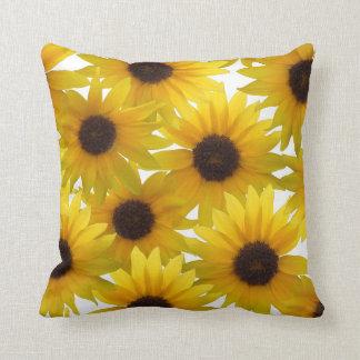 Boldly Sunny Sunflowers Throw Pillow