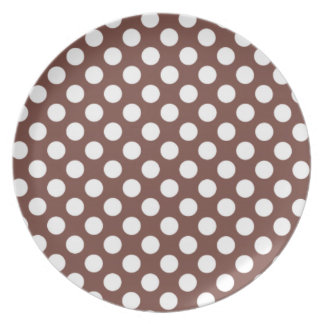 Bole Brown Polka Dots Party Plate