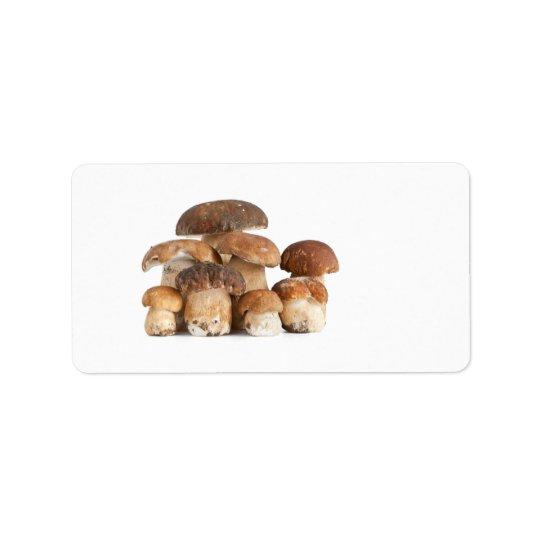 Boletus mushroom label
