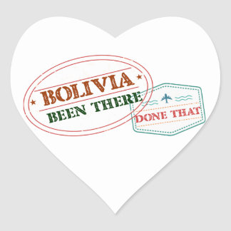 Bolivia Been There Done That Heart Sticker