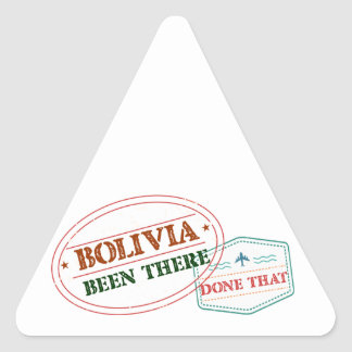 Bolivia Been There Done That Triangle Sticker