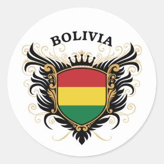 Bolivia Classic Round Sticker