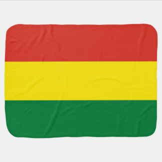 Bolivia Flag Baby Blanket