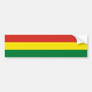 Bolivia Flag Bumper Sticker