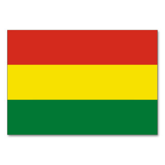 Bolivia Flag Card
