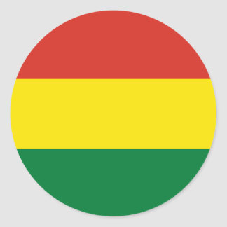 Bolivia Flag Classic Round Sticker