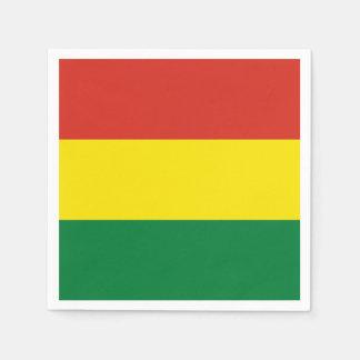 Bolivia Flag Disposable Serviettes