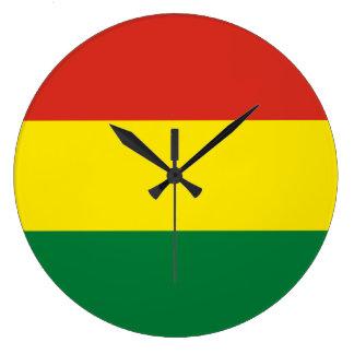 Bolivia Flag Large Clock