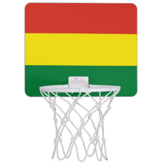 Bolivia Flag Mini Basketball Hoop
