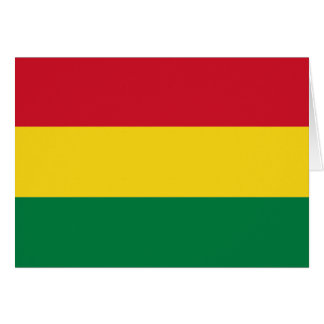 Bolivia Flag Note Card
