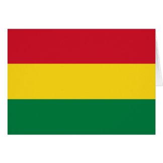 Bolivia Flag Note Card