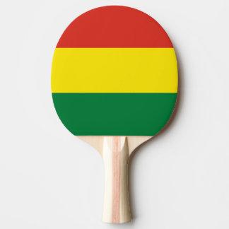 Bolivia Flag Ping Pong Paddle