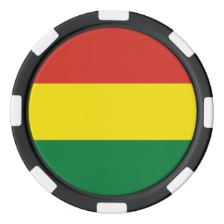 Bolivia Flag Poker Chips