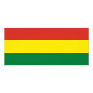 Bolivia Flag Rack Card