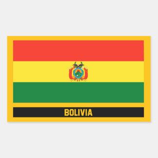 Bolivia Flag Rectangular Sticker