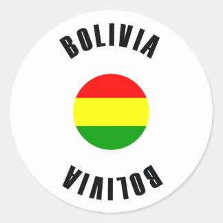 Bolivia Flag Simple Classic Round Sticker