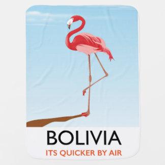 Bolivia Flamingo travel poster Baby Blanket