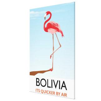 Bolivia Flamingo travel poster Canvas Print