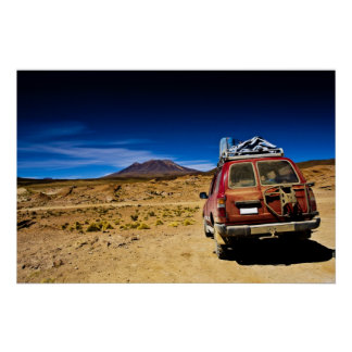 bolivia jeep poster
