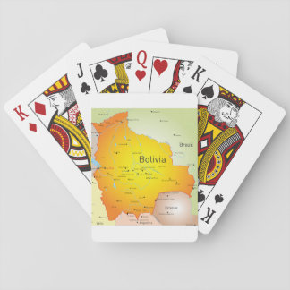 Bolivia Map Playing Cards