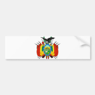 Bolivia Official Coat Of Arms Heraldry Symbol Bumper Sticker