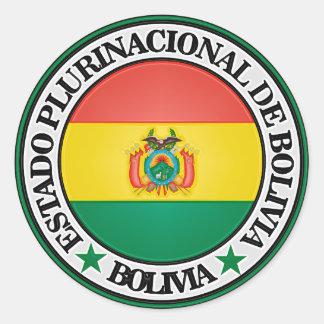Bolivia Round Emblem Classic Round Sticker