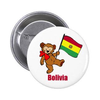 Bolivia Teddy Bear Button