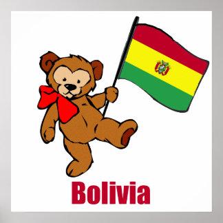 Bolivia Teddy Bear Poster